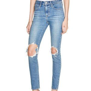 LEVI'S 721 High Rise Ripped Sculpt Skinny Jeans 25